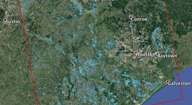 New NASA Satellite Flood Map of Southeastern Texas (Sentinel-1 Data)