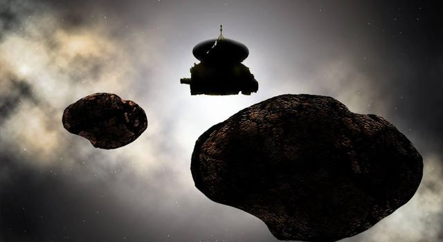 Artist Concept: Flying by a 2014 MU69