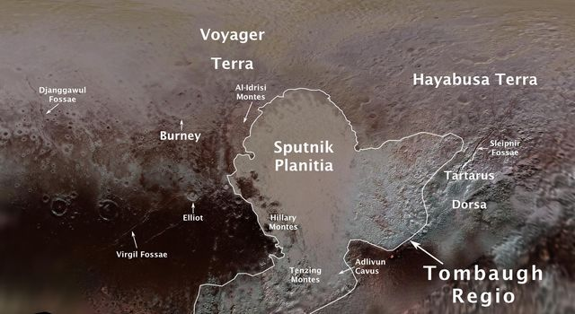 First Official Pluto Feature Names