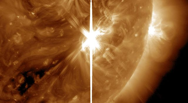 NASA's Solar Dynamics Observatory observed a large sunspot, source of a powerful solar flare (an X 9.3) and a coronal mass ejection (Sept. 6, 2017). The flare was the largest solar flare of the last decade.