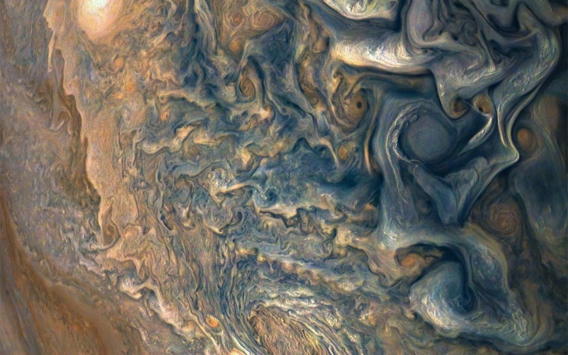 Space Images High Above Jupiter S Clouds