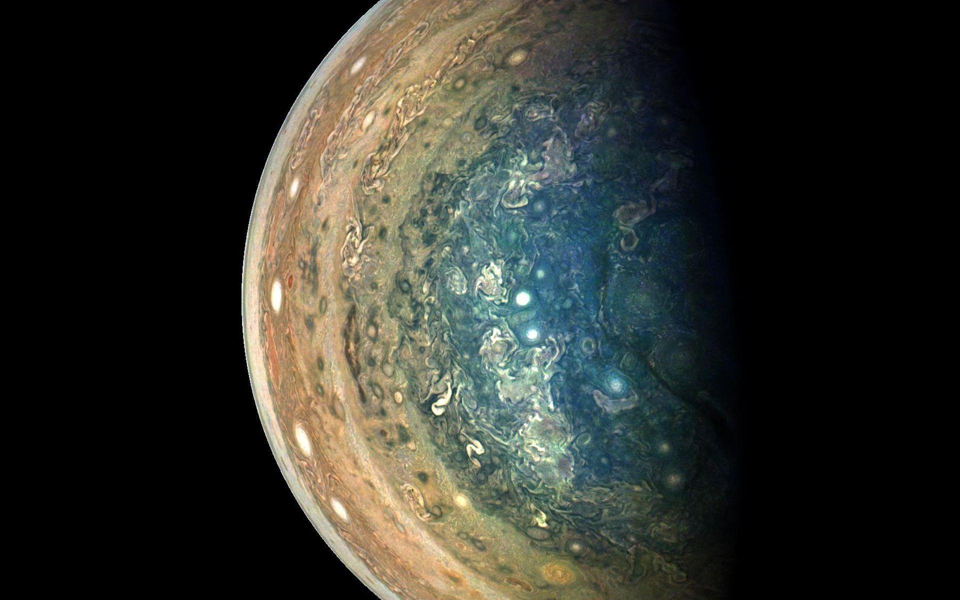 Space images jupiter 39 s swirling south pole - Jupiter wallpaper ...