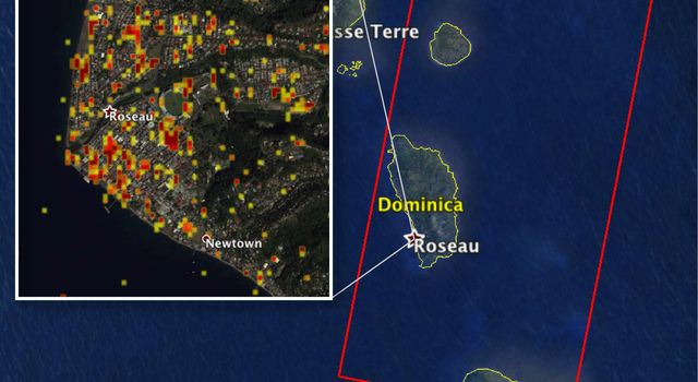 Dominica Hurricane Damage Mapped by NASA's ARIA Team