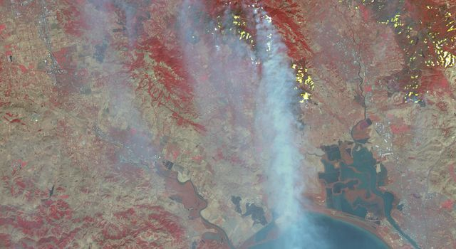 Destructive Northern California Fires Seen in New NASA Satellite Image