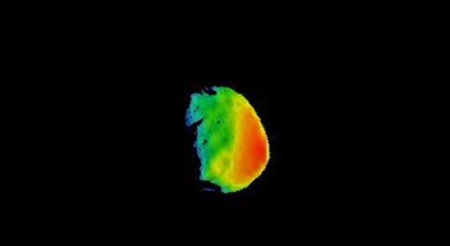 Temperature Gradient on Martian Moon Phobos