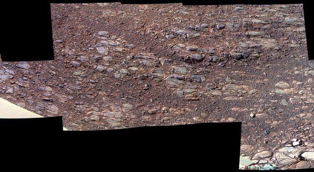 Wind's Marks in 'Perseverance Valley' (Enhanced Color)