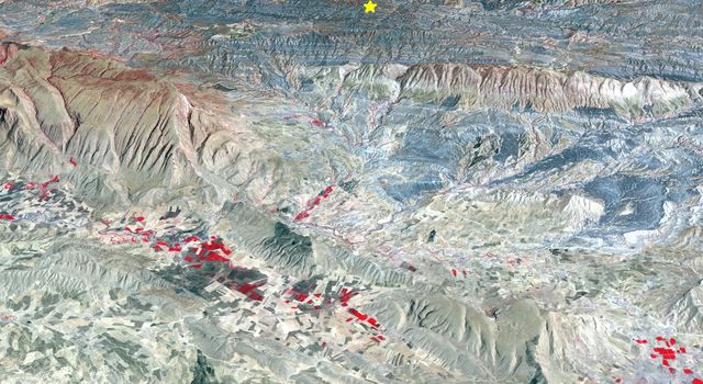 Iran-Iraq Border Quake Region Imaged by NASA Satellite