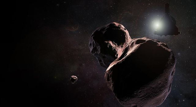 New Horizons Encountering 2014 MU69 (Artist