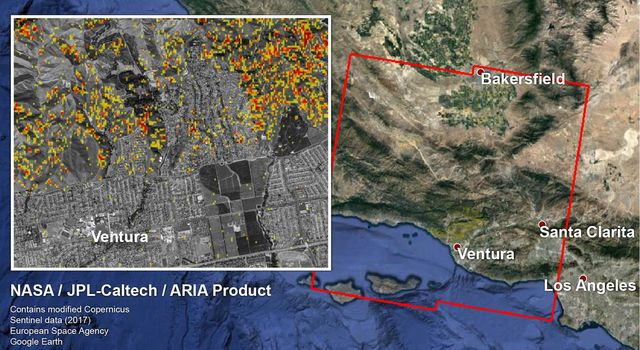NASA-Produced Map Shows Extent of Southern California Wildfire Damage