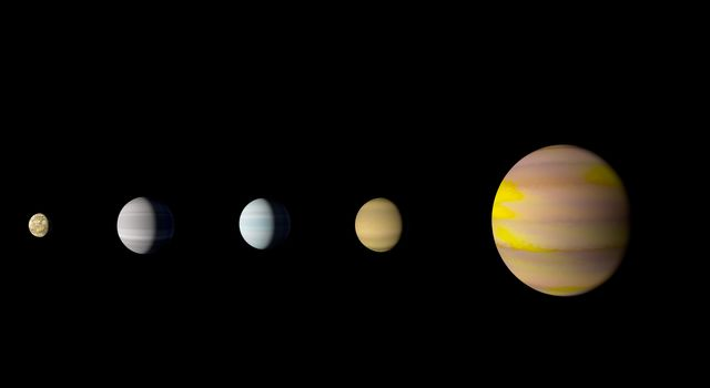 With the discovery of an eighth planet, NASA's Kepler-90 system is the first to tie with our solar system in number of planets. This is an artist's concept.