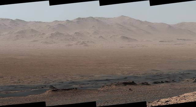 Telephoto Vista from Ridge in Mars' Gale Crater