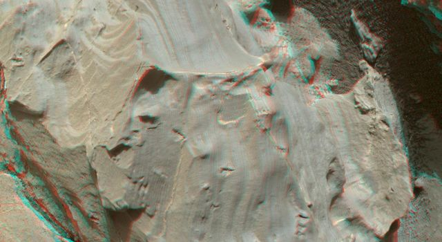 Stereo View of Martian Rock Target