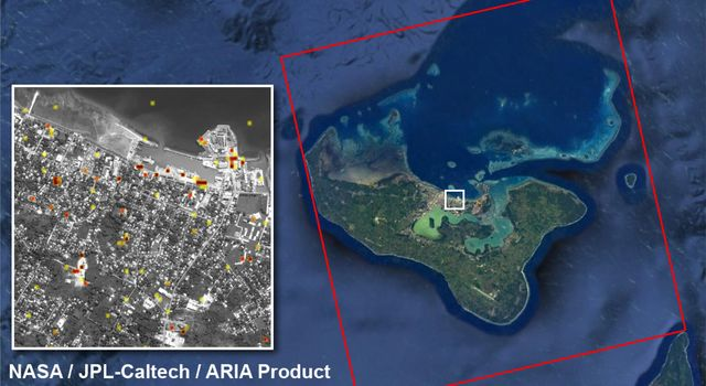 Tonga Cyclone Damage Mapped by NASA's ARIA Team