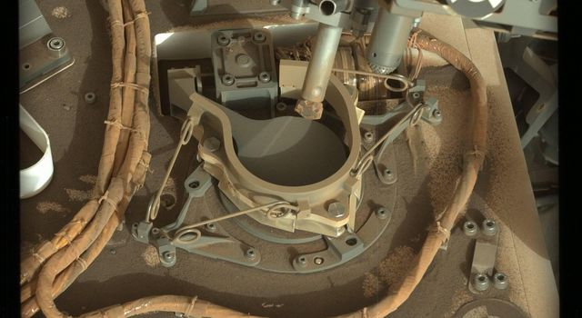 Inlet Cover On the Curiosity Rover