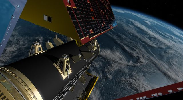 GRACE Follow-On Satellites Separating from Spacecraft (Artist