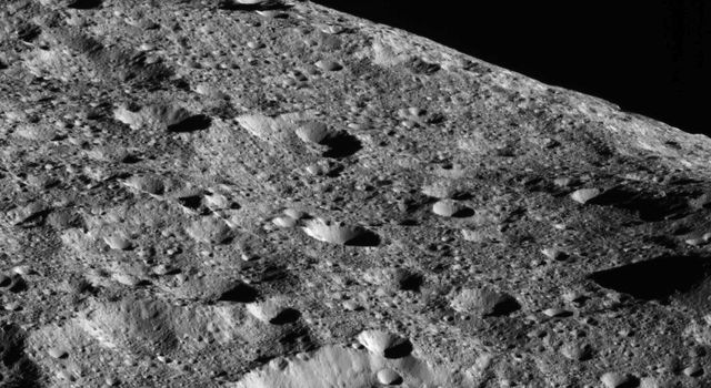 On the way to its lowest-ever and final orbit, NASA's Dawn spacecraft is observing Ceres and returning new images of the dwarf planet's surface, such as this dramatic image of Ceres' limb.