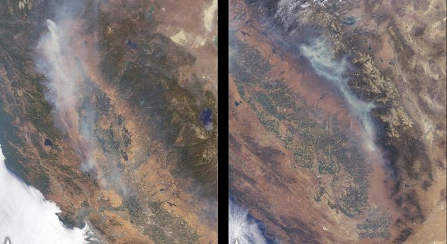 California Wildfires Captured by NASA Satellite