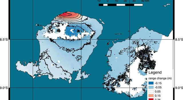 NASA's ARIA Project Generates Satellite-Derived Map of Ground Deformation from Earthquake beneath Lombok, Indonesia