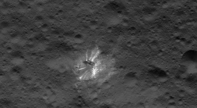 Bright Crater on Ceres