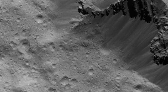 Landslides Along Occator Crater