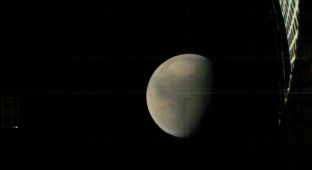 MarCO-B, one of the experimental Mars Cube One (MarCO) CubeSats, took these images as it approached Mars, just before NASAs InSight spacecraft landed on the planet.