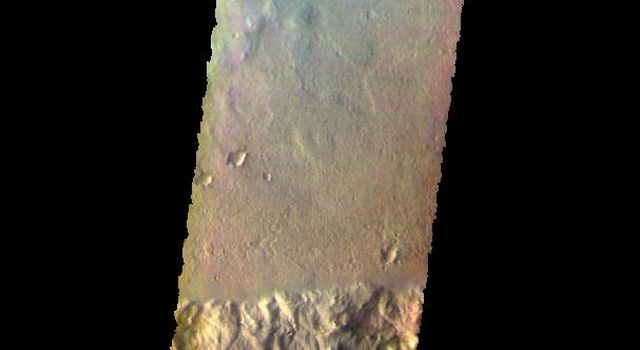 This image from NASA's Mars Odyssey shows several craters and plains of Terra Cimmeria.