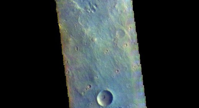 This image from NASAs Mars Odyssey shows part of Mutch Crater in Xanthe Terra.