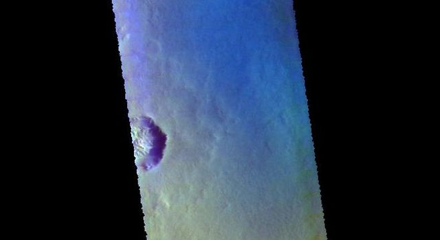 Milankovic Crater - False Color