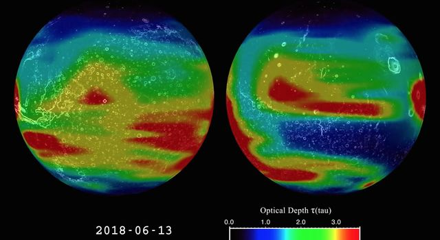 Mars Climate Sounder Studies 2018 Dust Storm