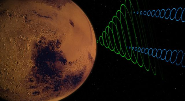 This animation depicts the MarCO CubeSats relaying data from NASAs InSight lander as it enters the Martian atmosphere.
