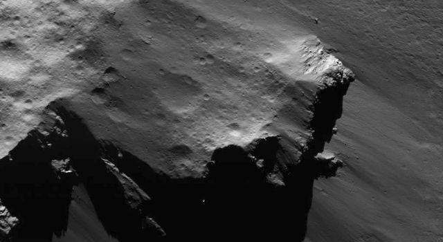 This image of a detached large block from Urvara Craters rim was obtained by NASAs Dawn spacecraft on July 16, 2018 from an altitude of about 35 miles (56 kilometers).