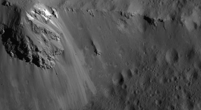 Large Block Along the Ridge of Urvara Crater