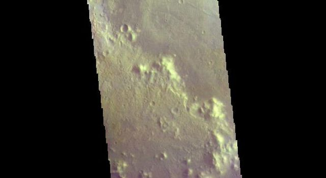 Trouvelot Crater - False Color