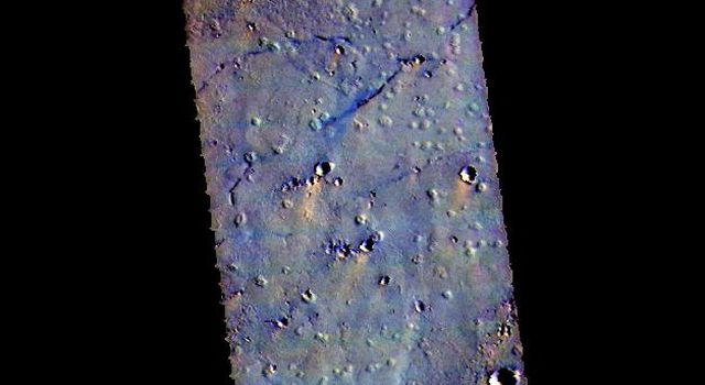 This image from NASAs Mars Odyssey shows some of the plains of Chryse Planitia.