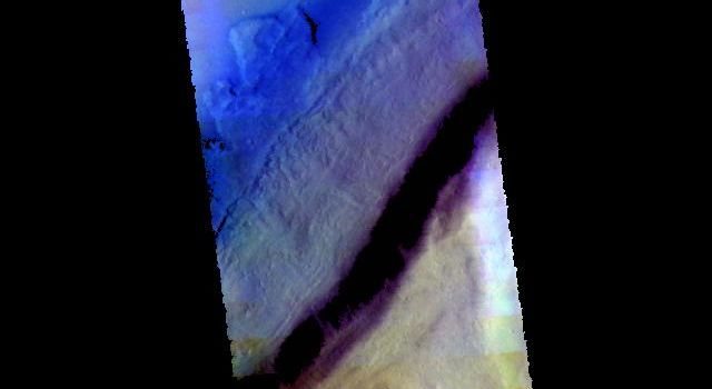Tempe Fossae - False Color
