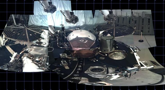 Test Panorama of InSight Deck Before Launch