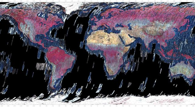 This mosaic was created from thumbnail browse images of data from NASAs Terra spacecraft.