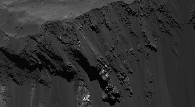 Blocks Sliding Down Occator Crater