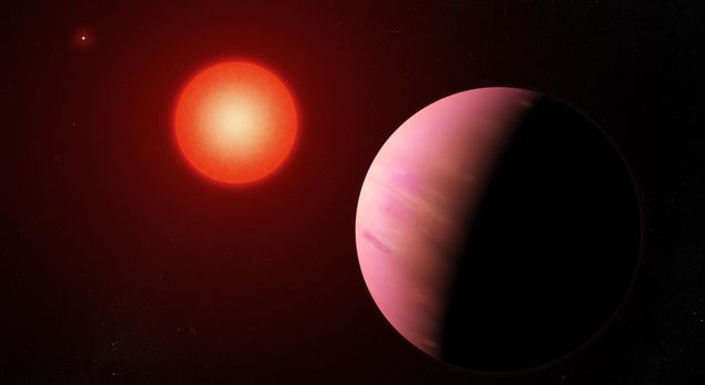This artists illustration shows the newfound planet K2-288Bb is slightly smaller than Neptune.