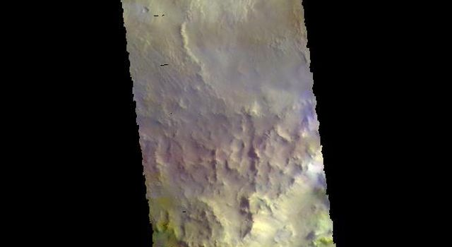 Arabia Terra Craters - False Color