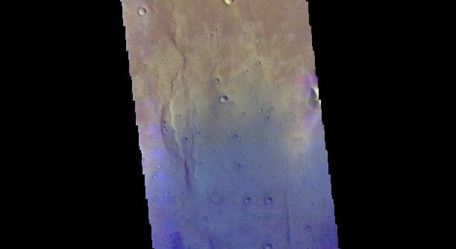 Rutherford Crater - False Color