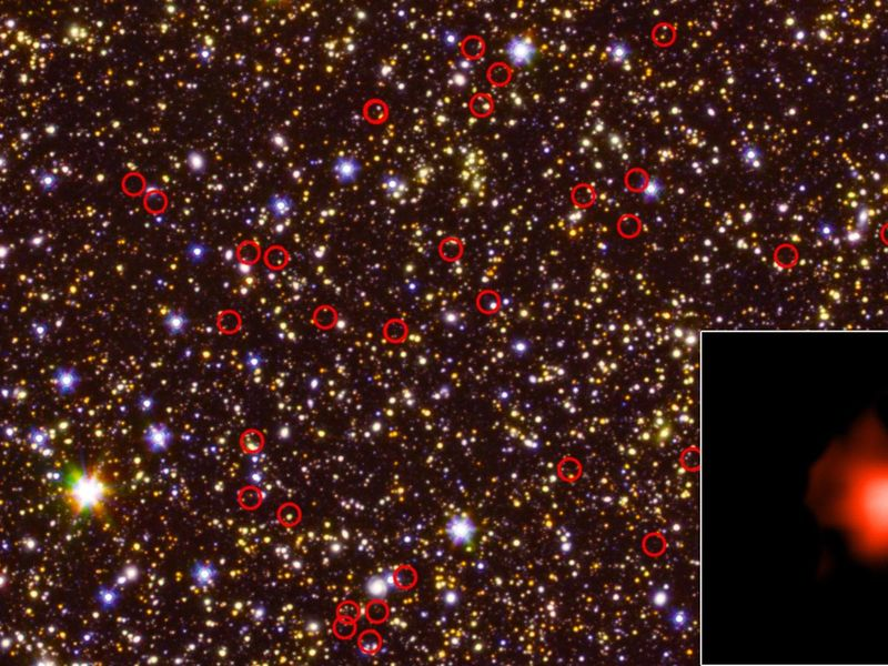 A Field of Galaxies Seen by Spitzer and Hubble