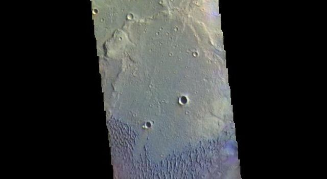 This image from NASAs Mars Odyssey shows part of Herschel Crater located in Terra Cimmeria.