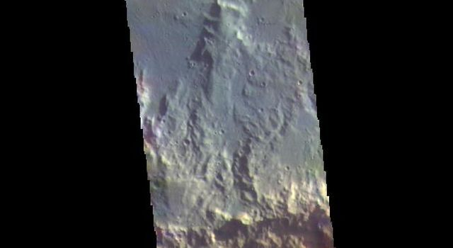 This image from NASAs Mars Odyssey shows part of Terra Cimmeria.