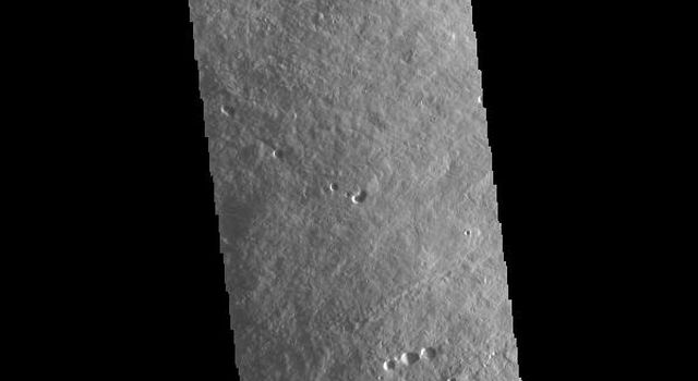 This image from NASAs Mars Odyssey shows the upper flank of Olympus Mons. Olympus Mons is the largest volcano in the solar system.