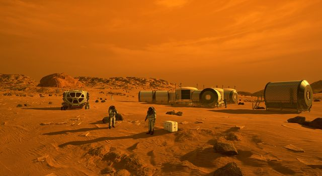 First Humans on Mars (Artist