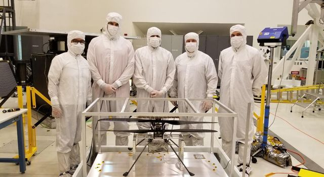 Mars Helicopter Arrives in Clean Room