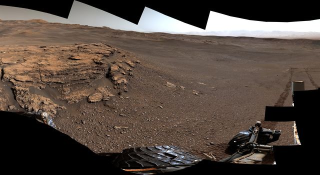This 360-degree panorama of a location called Teal Ridge was captured on Mars by the Mast Camera, or Mastcam, on NASAs Curiosity rover on June 18, 2019.
