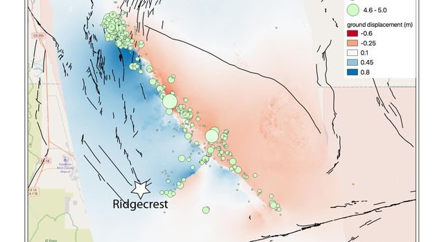 NASA Map Shows Ground Movement from California Quakes