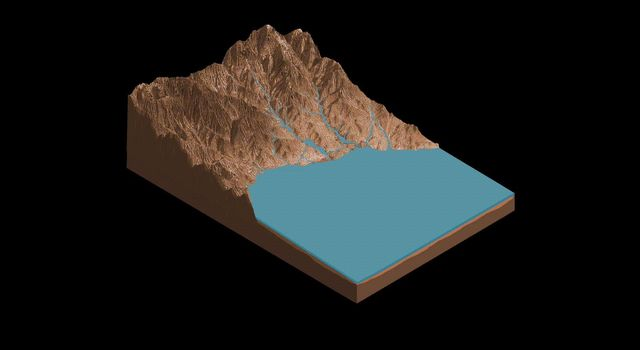 Sutton Island Model of Drying Lakes (Animation)
